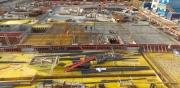 Neubau einer Wohnanlage mit 224 WE, 2 Gewerbeeinheiten, Kindergarten und Tiefgarage in Johanneskirchen, Bauzeit: Sept. 2015 - Okt. 2016