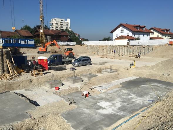 Die Bauarbeiten am BV Putzbrunn schreiten bereits nach Beginn gut voran